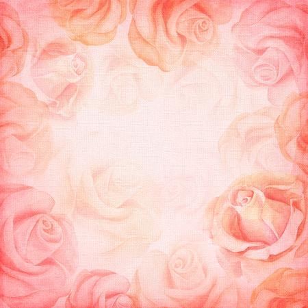 Résumé romantique rose fond carré.