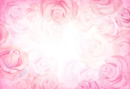 abstract rose: Abstract romantic rose horizontal background.