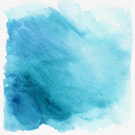 Blue grunge watercolor background or texture. vector Vectores