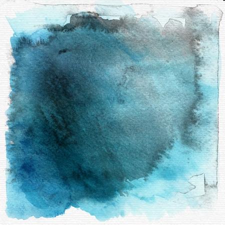 aquarel: Blue grunge watercolor background or texture. vector Illustration