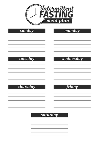 Template for the creation of the food menu. black and white Vector illustration.
