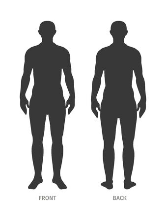 The human body silhouette. Isolated background. Vector Template for use in agitation, posters