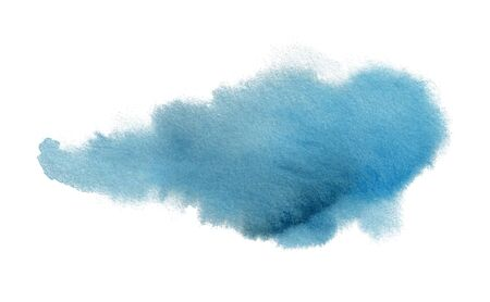 Abstract watercolor blue spot. Template for the design of posters, invitations, cards. Vettoriali