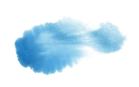 Abstract watercolor blue spot. Template for the design of posters, invitations, cards. Ilustração