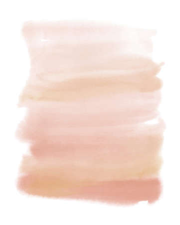 Abstract watercolor pink beige spot. Texture watercolor on a white background. Isolated vector illustration.