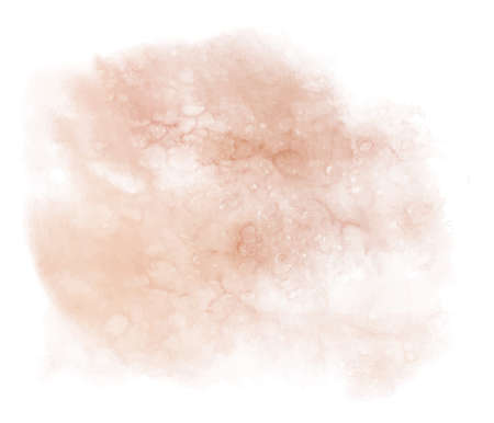 Abstract watercolor pink beige spot. Texture watercolor on a white background. Isolated vector spot spray illustration.