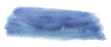 Abstract watercolor blue spot. Texture watercolor on a white background. Isolated vector illustration.