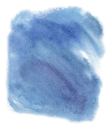 Abstract watercolor blue spot. Texture watercolor on a white background. Isolated horizontal vector background illustration.
