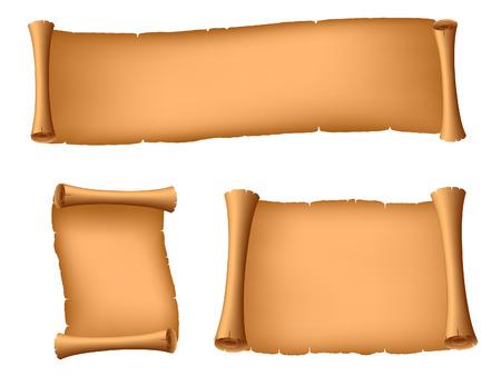 Set of ancient scrolls. Vector