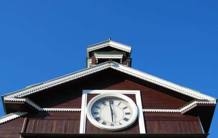 numeros romanos: N�meros romanos del reloj de la capilla antigua de madera