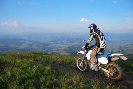 motorsprot: extreme motocross in highlands Stock Photo