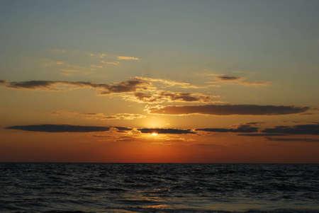 azov sea: The sunset in the sea. Azov Sea, Ukraine