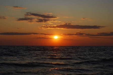 azov sea: The sunset at Azov sea