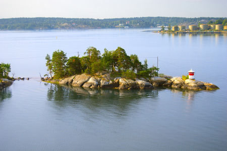 archipelago: Small island with lighthouse, Sweden