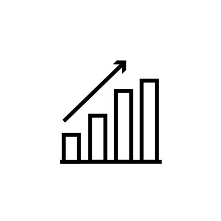 Graph Icon in trendy flat style isolated on grey background. Chart bar symbol for your web site design, app, UI.