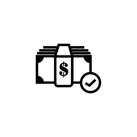 Approved Payment icon. Vector pictograph style is a flat symbol, color, chess transparent background. Designed for software and web interface toolbars and menus. Illustration