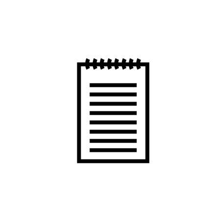 Ring binder calendar notepad - Vector icon isolated Stock Illustratie