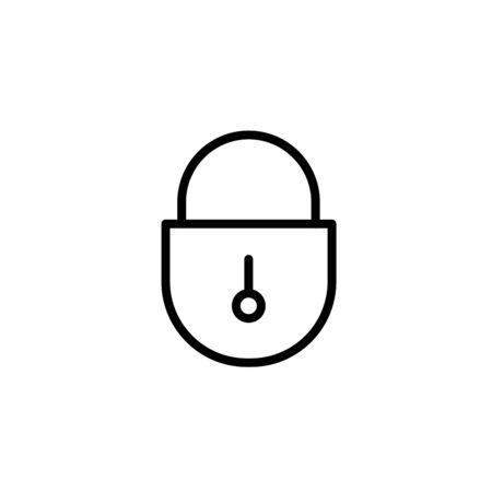 A padlock isolated against a white background Illusztráció