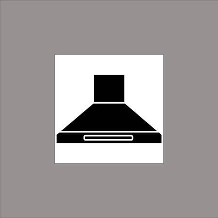 Exhaust hood. Black flat icon on a transparent background. Pictogram for your project Stok Fotoğraf - 133509974