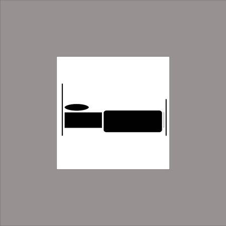 black Bed simple vector icon