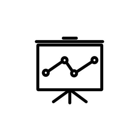 Web line icon. Flipchart, graph Ilustrace