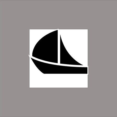 Boat black simple icon vector
