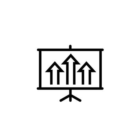 Statistics bars growing vector icon Ilustrace