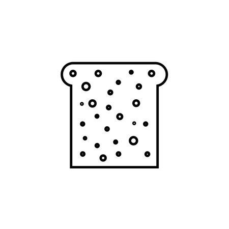 Chleb prosta linia wektor ikona