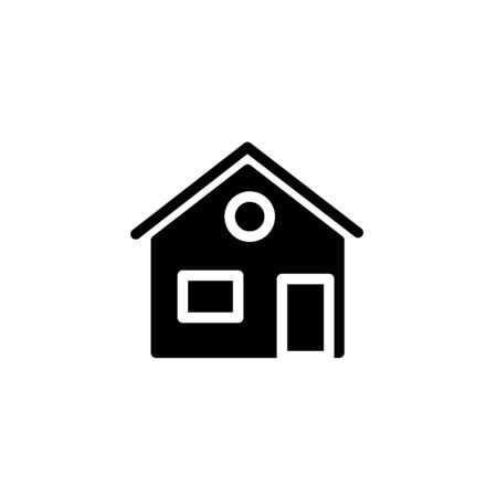 Home vector icon. House icon. Estate icon. Minimalist style.