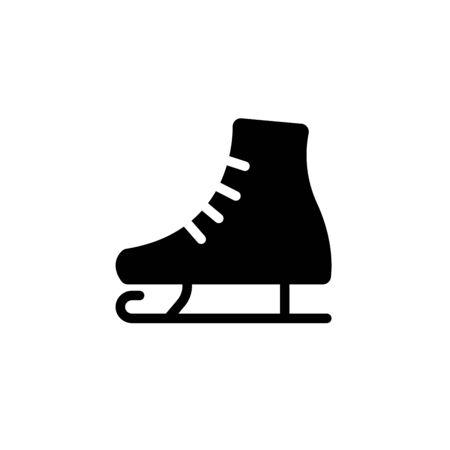 simplified illustration of an ice skate to be used as a symbol or sign