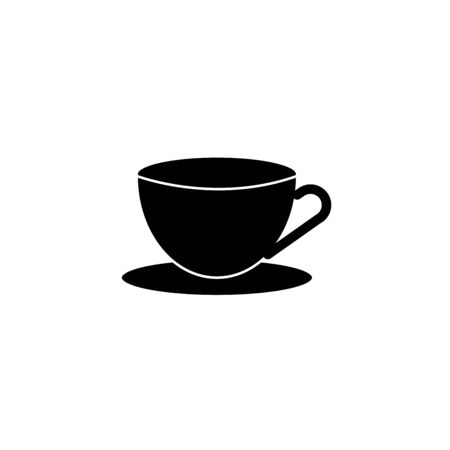 Elegant cup of tea icon sign stock vector Иллюстрация