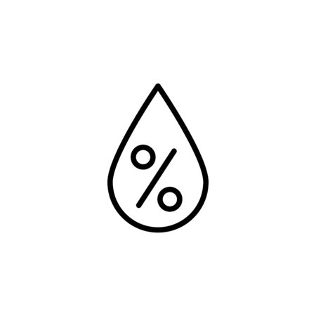 Humidity drop Icon Flat Style Isolated Vector Illustration