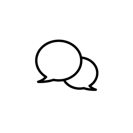 Speech bubbles Icon vector flat design Ilustracja