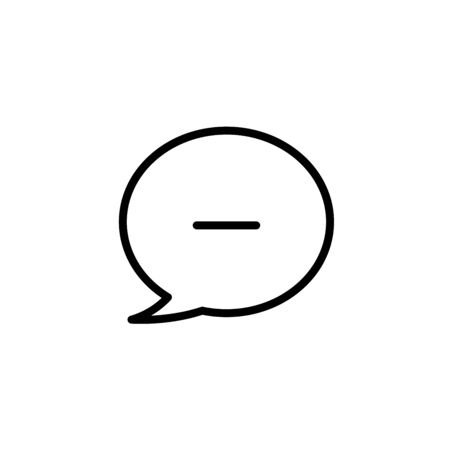 Speech Bubble Remove vector icon
