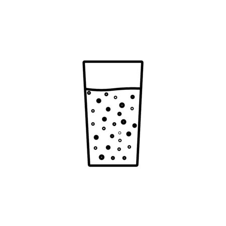 soda icon. Simple filled soda vector icon. On white background.