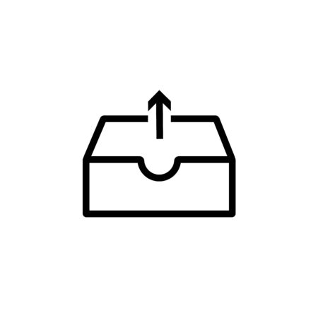 Email Outbox simple Vector Icon