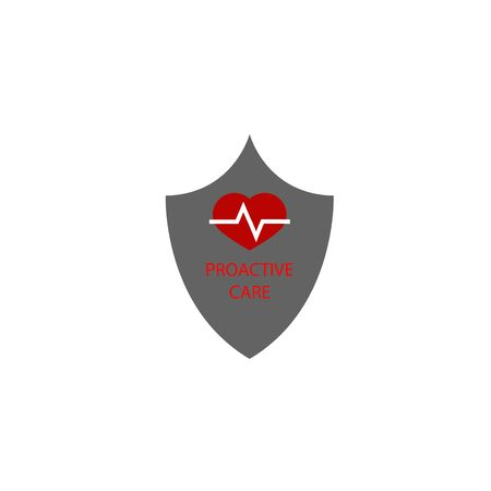 Medical immune shield icon. Immune system concept. Proactive care