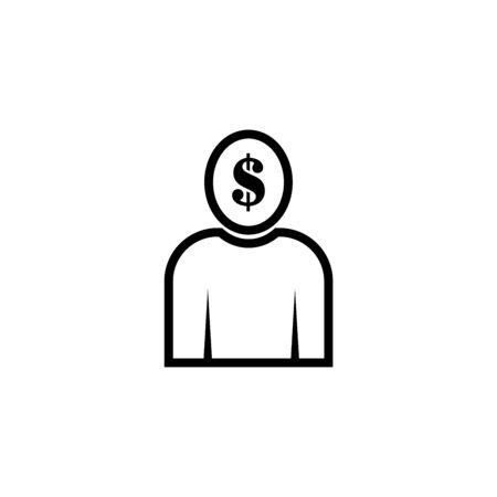 User dollar sign vector icon.