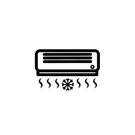 air conditioner,split system vector line icon, sign, illustration on background, editable strokes