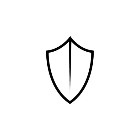 protection shield line vector icon