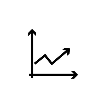 Growing bars graphic icon with rising arrow Ilustrace