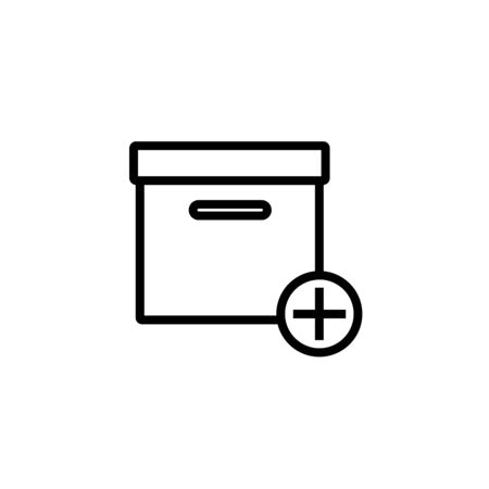Add box icon. Vector illustration. Ilustracja