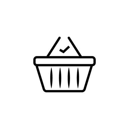 Finish shopping icon, vector best flat icon on white background