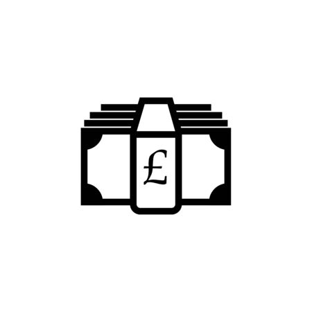 Money icon. Pound sterling and cash, coin, currency, bank symbol. Flat design. Stock - Vector illustration 일러스트