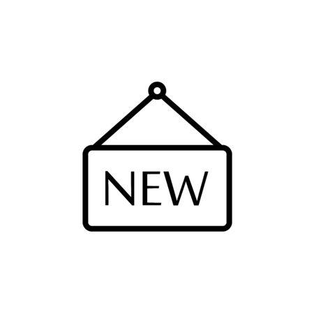 label new icon. new sticker, new tag illustration Ilustração