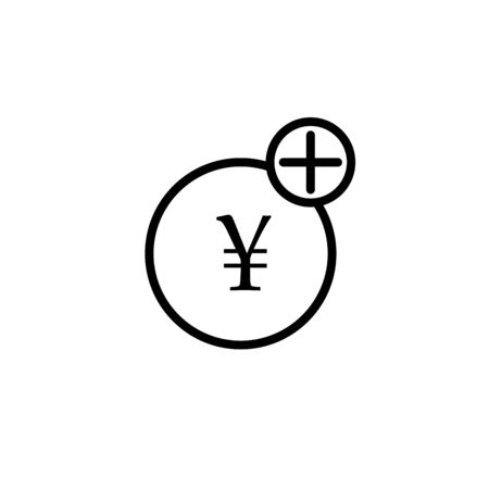 Yen sign icon. JPY currency symbol. Money label. Colorful button with icon. Geometric elements. Vector 向量圖像
