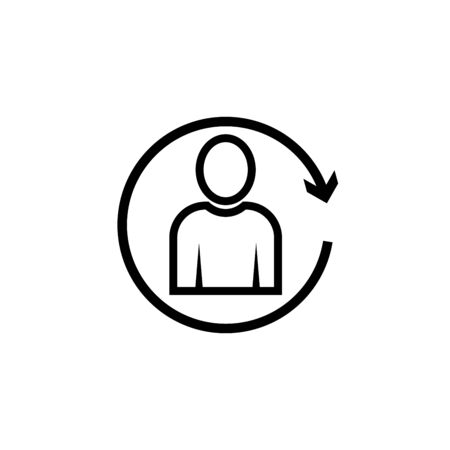 reload user avatar vector simple icon Illustration
