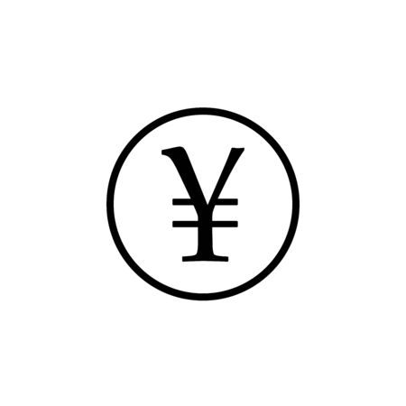 Yen sign icon. JPY currency symbol. Money button. 向量圖像