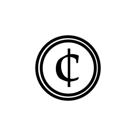 Cent vector sign icon.Money symbol.