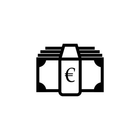Money icon. Euro and cash, coin, currency, bank symbol. Flat design. Stock - Vector illustration 일러스트